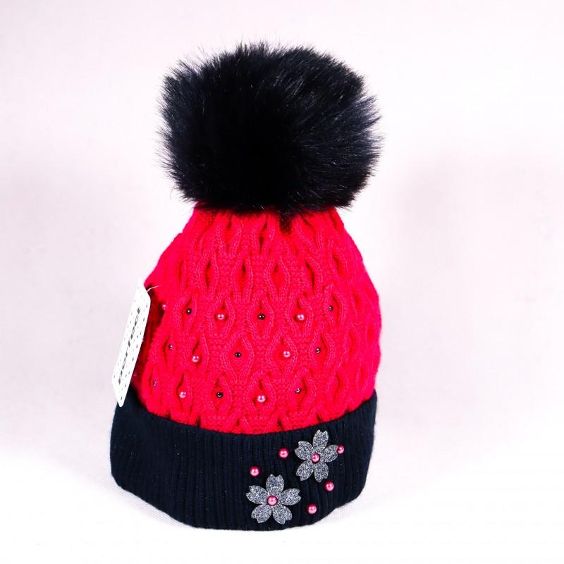 Zimná detská čiapka Bella ZCDE002 ružová