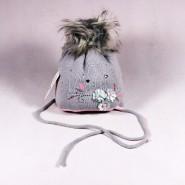 Zimná detská čiapka Lila ZCDE007 ružová, šedá