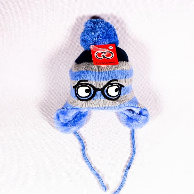 Zimná detská čiapka Harry ZCDE013 modra