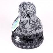 Zimná detská čiapka James ZCDE008 čierna, šedá
