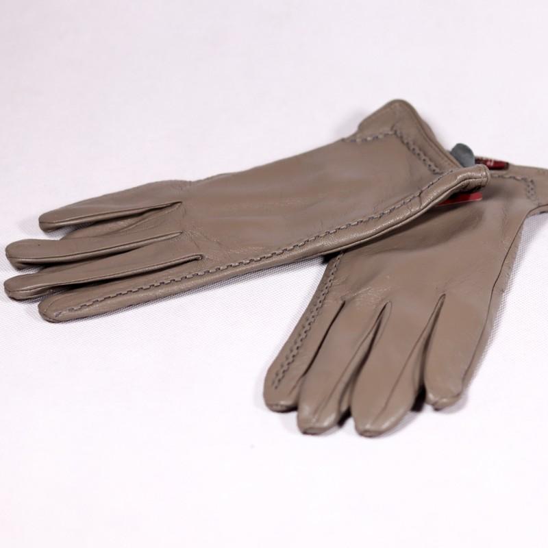Zimné dámske kožené rukavice Riitta ZRD019 šedá
