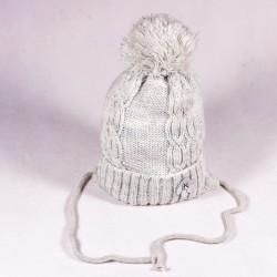 Zimná detská čiapka Stella ZCDE006 ružová, šedá